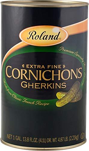 Roland Cornichons Gherkins,  Extra Fine, 1 GAL 13.8 Ounce ()