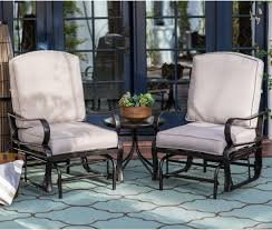 Cameron Single Patio Glider Chair 3  Pieces Set, Comes In Durable Bronze  Powder