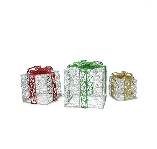Outdoor Lighted Christmas Led Gift Presents Decoration in US - 8