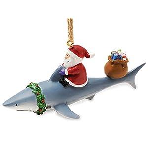 Best Epic Trends 41J9tZVKrZL._SS300_ Cape Shore Santa Riding Shark Ornament
