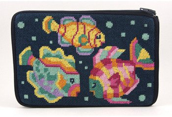 Cosmetic Purse - Tropical Fish - Needlepoint Kit