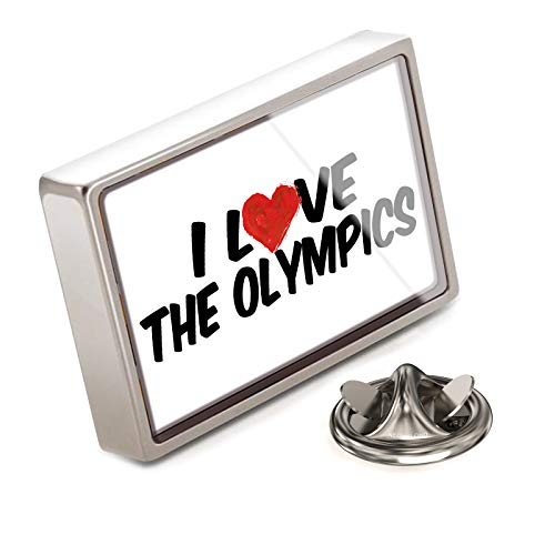 (NEONBLOND Lapel Pin I Love The Olympics)