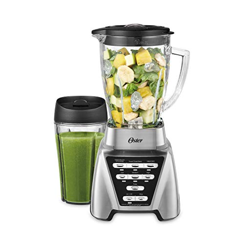 Oster Blender | Pro 1200 with Glass Jar, 24-Ounce Smoothie Cup, Brushed Nickel (Size Of A Nickel In A Blender)