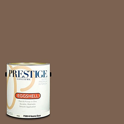 -N-3001-9AVP Interior Paint and Primer in One, 1-Gallon, Eggshell, Comparable Match of Valspar Chocolate Turtle, 1 gallon VS279-Chocolate ()