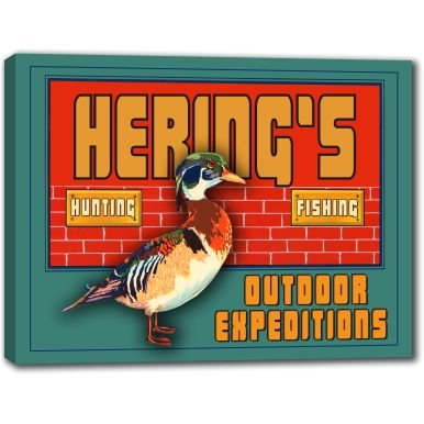 herings-outdoor-expeditions-stretched-canvas-sign-24-x-30