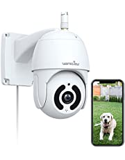 $49 » Outdoor Security Camera, Wansview 1080P Pan-Tilt Surveillance Waterproof WiFi Cameras, Night Vision, Two-Way Audio, Motion Detection, Remote Access, Compatible with Alexa W9
