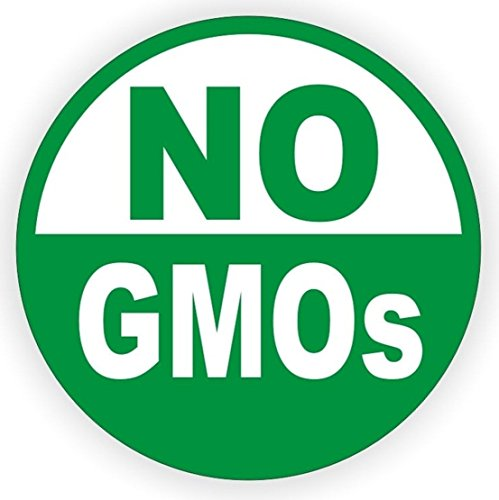 1-Pcs Ideal Popular No GMO's Vinyl Stickers Sign Environmentally Friendly Green GMOs Decal Genetically GMO Label Size 3