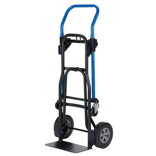 Harper Trucks JDCJ8523EN 3-1 Quick Change Convertible Hand Truck, 500 lb, Black Frame/Blue Handle