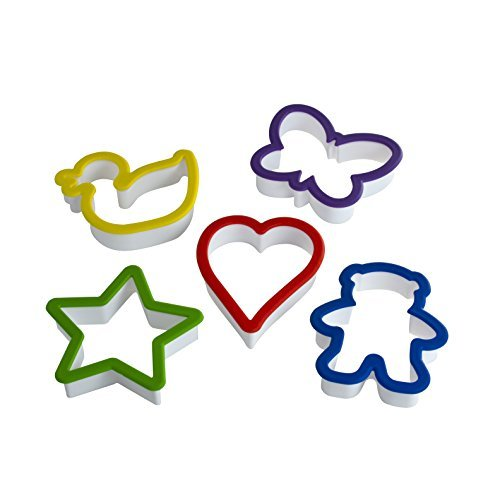 Real Kitchen Tools and Cookbook for Kids - Curious Chef 5-Piece Cookie Cutter Set