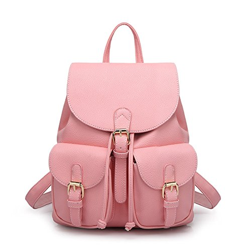 Mini Mini Fashion Backpack Simple Women's Rucksack Women's Casual Pink Simple Campus 68Erwq6x