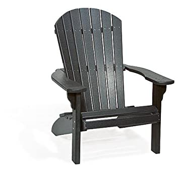 Poly Fan Back Adirondack Chair (Black)