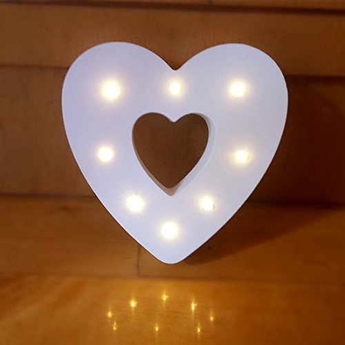Decorative Light Up Wooden Alphabet Letter,WONFAST DIY LED Letter Lights Sign Party Wedding Holiday Marquee Decor Battery Operated,Warm White,Alphabet (Love)