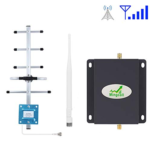 Mingcoll Mobile Phone Signal Booster Verizon AT&T Band 5 850Mhz Cell Phone Signal Booster 2G 3G GSM CDMA Signal Repeater Amplifier Kits (B85-K8T) ()