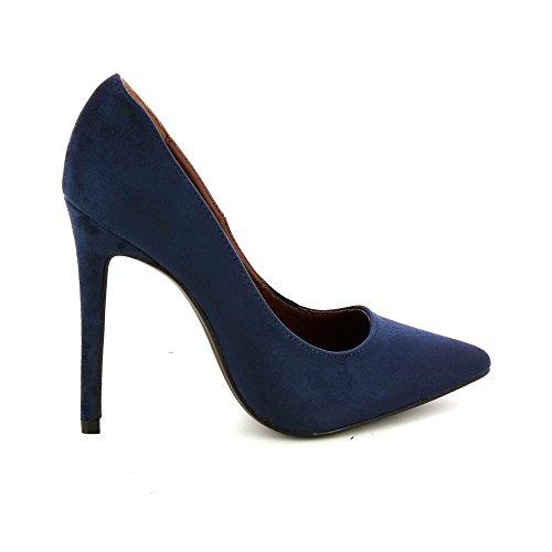 Go Tendance - Zapatos de Vestir de Material Sintético Mujer Azul