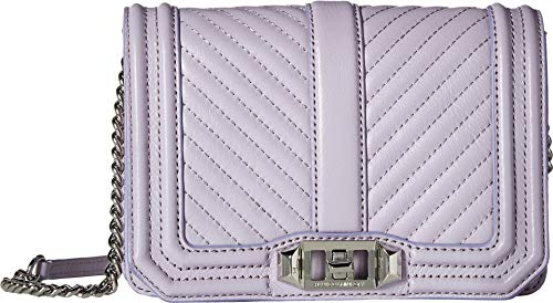 Rebecca Minkoff Women's Chevron Quilted Small Love Crossbody Wisteria One Size ()