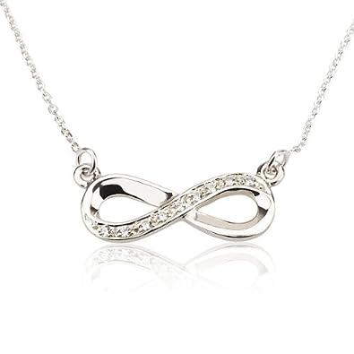 0ae3ee6730e4 Infinity Pendant Silver Infinity Necklace With Swarovski Stones (40 ...