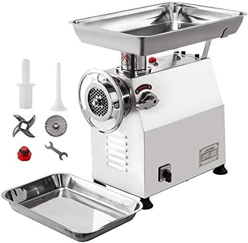 Stainless Steel 1100w Grinders 450lbs//h Meat Mincer Electric Meat Grinder