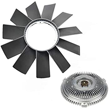 Set of 2 Engine Radiator Cooling Fan Blade and Clutch Kit for BMW E34 E36 E39 E46 E53 323i 325i 328i 330i 525i 528i M3 X5
