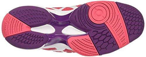 Rouge Prune de Blast para Asics Multicolor Mujer Red Balonmano Gel White 7 Zapatillas pCq7zxF