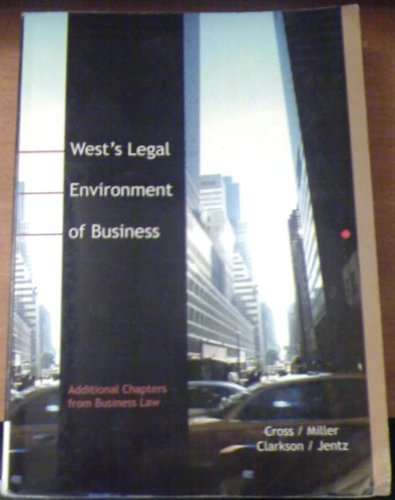 West's Legal Environment of Business