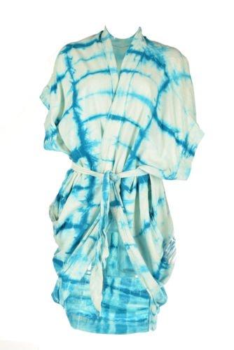 Free People Tie Dye Kaftan Cover Up Blue XS/S