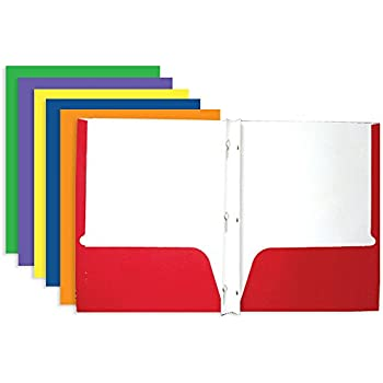 amazon com bazic 2 pocket portfolio folder with 3 prong fastener