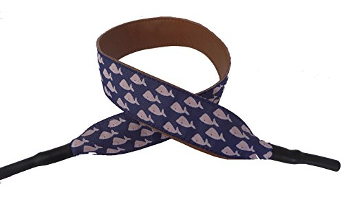 No27 Unisex Nautical Whale School Ribbon with Leather Material Eyeglass Croaky 15 Inches by No27