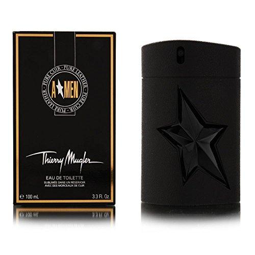 Angel Men Pure Leather For Men by Thierry Mugler Eau De Toilette Spray 3.3 oz / 100 ml