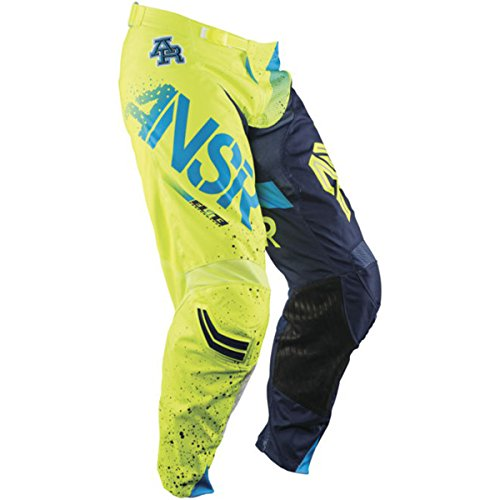 (Answer Racing A17.5 Elite Limited Edition Halo Men's Off-Road Motorcycle Pants - Blue/Yellow / Size 34)