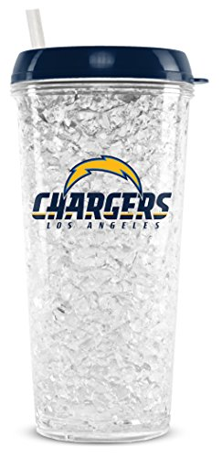 ngeles Chargers 16oz Crystal Freezer Tumbler with Lid and Straw (San Diego Chargers Tumblers)