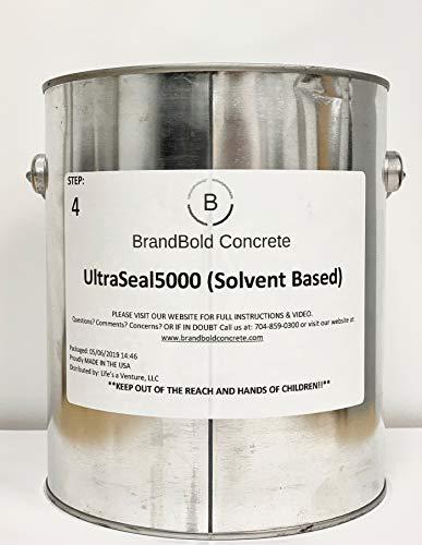 BrandBold Brilliance Concrete Acid Stain Sealer - UltraSeal 5000 (Solvent Based Sealer) - 1 Gallon - Step 4 ()