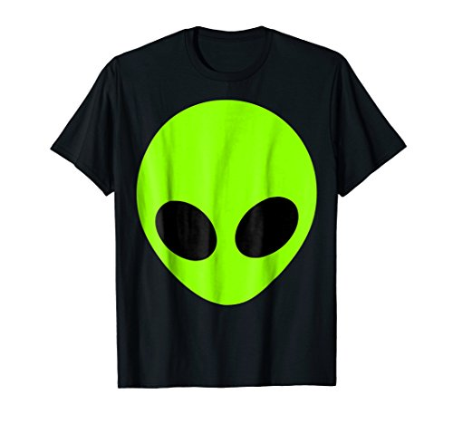 Alien Extraterrestrial T-Shirt Green Space Man Big Eyes (Spaceman Tin)