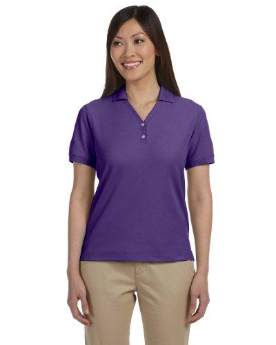 Devon & Jones Ladies' Pima Pique Short-Sleeve Polo, Purple, 3XL