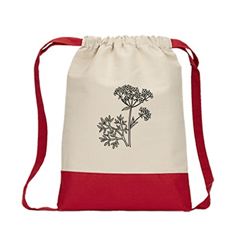 Canvas Backpack Color Drawstring Anise Vintage Look By Style In Print   (Anise Drawstring)