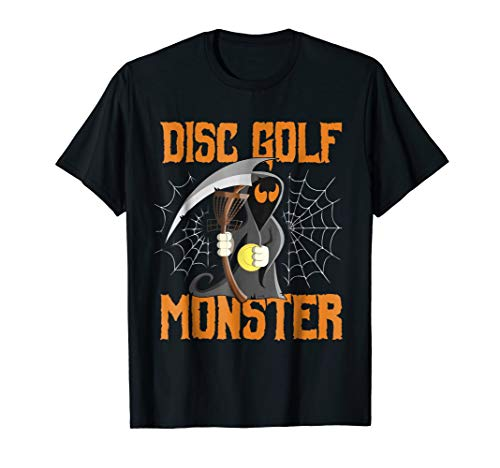 Halloween Funny Disc Golf Frolf Tshirt Grim Reaper Costume]()