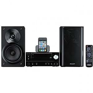 Sharp XL-HF201P 100 Watt RMS iPod Supported Micro Hi-Fi System - Black
