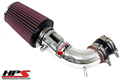 HPS Polish Shortram Cool Air Intake Kit+K&N Filter For Honda 11-16 CR-Z 1.5L SOHC 2-Door
