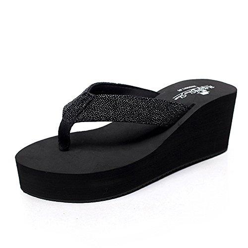 37 Studenteschi Pantofole Dimensioni scarpe colore rosa Nero nero Per Donna Nero Sandali Antisdrucciolo Haizhen Da Scarpe Spiaggia bianco Donne Le Sandali zqzHwApr