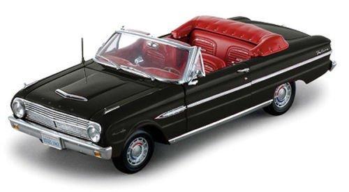 NEN 1:18 SUNSTAR AMERICAN COLLECTIBLE - Black 1963 Ford Falcon Open Convertible Diecast Model Car By SunStar