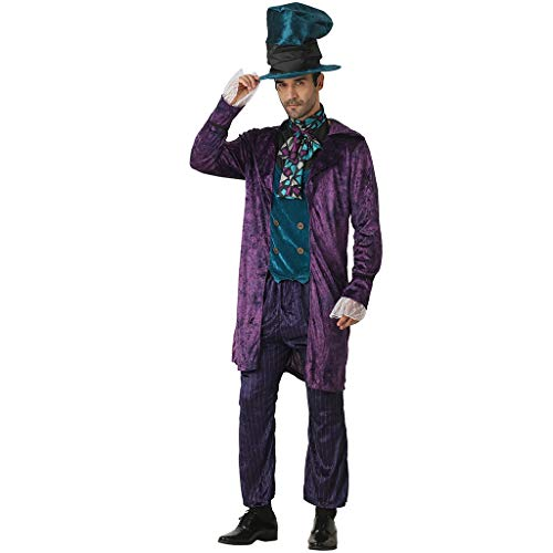 FantastCostumes Men Hatter Costume Fairy Tale Gentleman Fancy Dress -