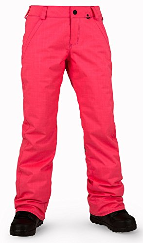 Volcom Junior's Frochickie Insulated Snow Pant, Electric Pink, X-Large (Volcom Gear Snow)