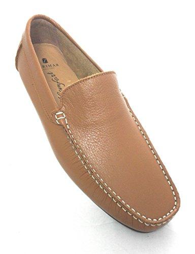 Calzado Talla Mocasines Color Hombre Piel Para 42 Hombre Hombre Zerimar Camel Zapatos Mocasin Vestir de w4qyC8F