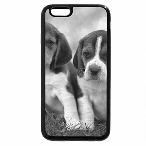 iPhone 6S Plus Case, iPhone 6 Plus Case (Black & White) - Beagle Pups