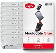 Sugru Moldable Glue - Original Formula - All-Purpose Adhesive, Advanced Silicone Technology - Holds up to 4.4 lb - White 8-P