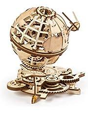 UGEARS Globe 70128 Mechanisch model 3D - Spinning Globe met shuttle en sputnik modelbouwpakket van hout - modelbouwsets van hout voor volwassenen - prachtig cadeau en wooncultuur
