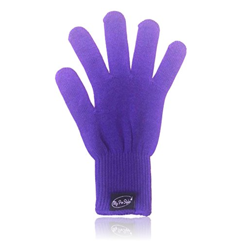 PURPLE Heat Resistant Glove for Flat \/ Curling Irons