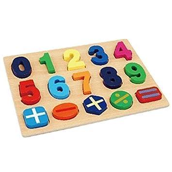 Y Numeros Madera Montessori Pour NinoAmazon Puzzle Juegos esJuguetes shdxCroBtQ