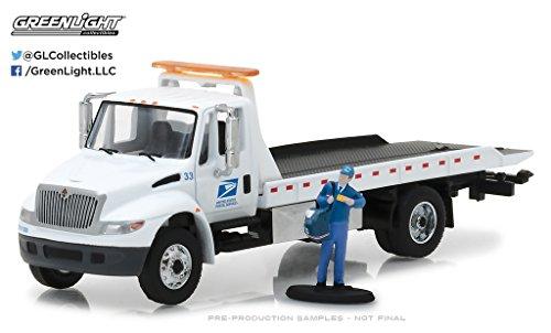 Greenlight 1:64 Heavy Duty Trucks 2013 International Durastar Flatbed USPS ()