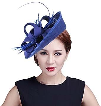 Imagen no disponible. Imagen no disponible del. Color  EOZY Mujer Tocado de Boda  Sombrero Vintage ... 8447e3d068c