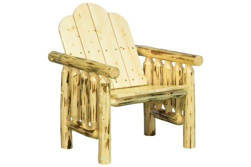 Collection Pine Finish - Montana Woodworks Montana Collection Deck Chair, Clear Exterior Finish
